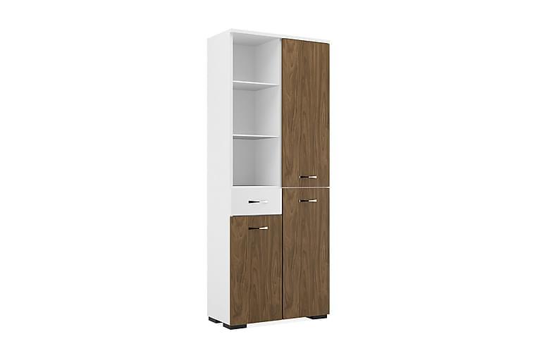 Afra Skap Hvit / Brun - Homemania - Møbler - Oppbevaring - Oppbevaringsskap