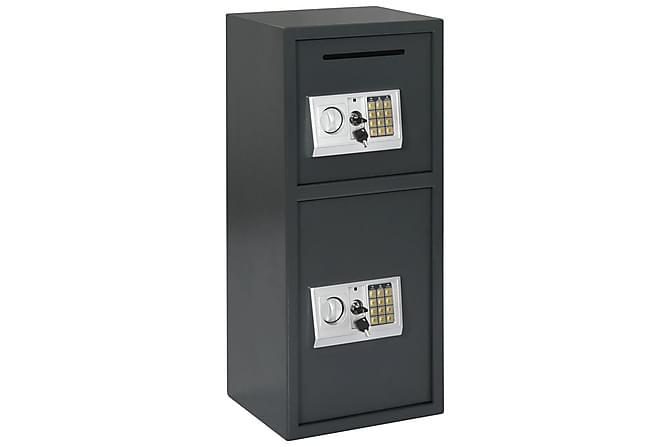 Digital safe med dobbel dør mørkegrå 35x31x80 cm - Møbler - Oppbevaring - Oppbevaringsskap