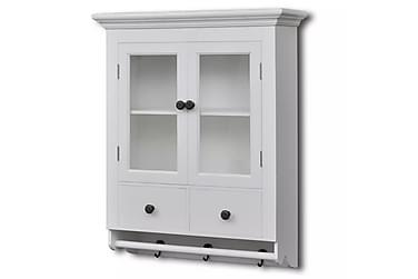Kjøkkenkabinett vegg med glassdør hvit tre