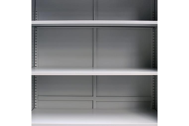 Kontorskap med 2 dører 90x40x180 cm grå - Møbler - Oppbevaring - Oppbevaringsskap