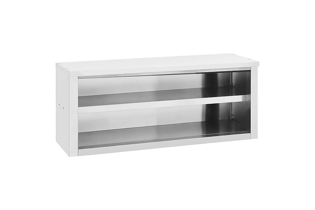 Veggmontert kjøkkenskap 120x40x50 cm rustfritt stål - Silver - Møbler - Oppbevaring - Oppbevaringsskap