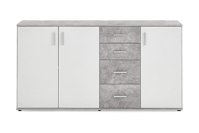 Albi Skjenk 160 cm - Grå/Hvit - Møbler - Oppbevaring - Sideboard & skjenk