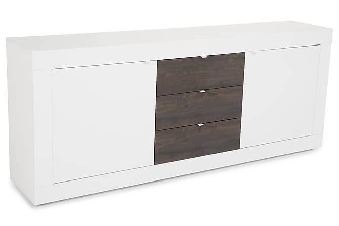 Basic Skjenk 210 cm - Hvit/Wenge - Møbler - Oppbevaring - Sideboard & skjenk