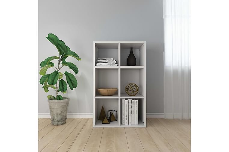 Bokhylle/skjenk høyglans hvit 66x30x97,8 cm sponplate - Møbler - Oppbevaring - Sideboard & skjenk