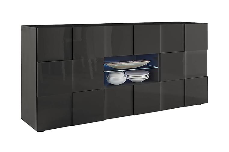 Dama Sideboard 181 cm med Skuffer - Mørkegrå Høyglanslack - Møbler - Oppbevaring - Sideboard & skjenk