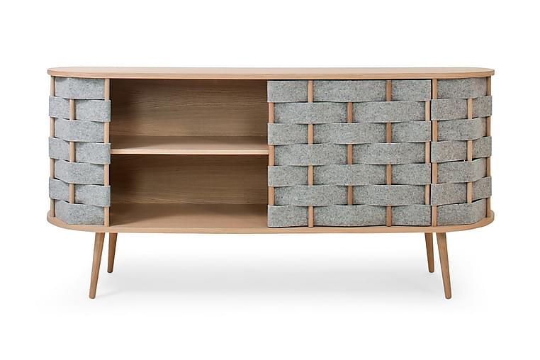 Feltan Sideboard 40x160 cm - Eik/Grå - Møbler - Oppbevaring - Sideboard & skjenk