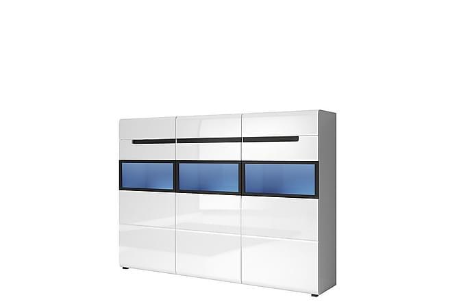 Hektor Skjenk 180x37x130 cm - Hvit - Møbler - Oppbevaring - Sideboard & skjenk