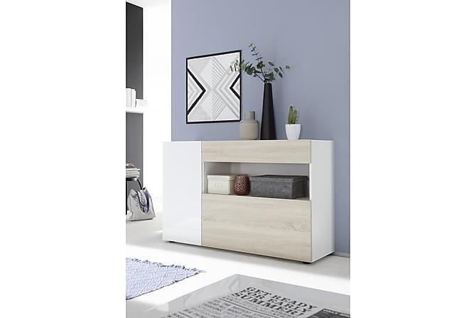 Nicery Sideboard 130 cm - Hvit/Brun - Møbler - Oppbevaring - Sideboard & skjenk