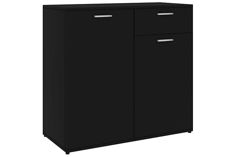 Skjenk svart 80x36x75 cm sponplate - Svart - Møbler - Oppbevaring - Sideboard & skjenk