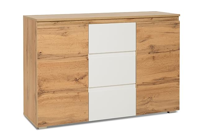 Vargemo Skap 120 cm - Hvit/Brun - Møbler - Oppbevaring - Sideboard & skjenk