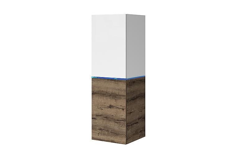 Domino Vitrineskap 35x33x109 cm - Beige / Grå - Møbler - Oppbevaring - Vitrineskap