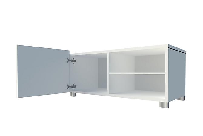 Saine TV-benk 100 cm Liten - Hvit - Møbler - Oppbevaring