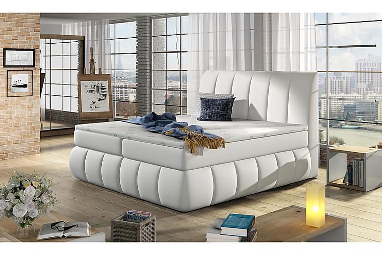 Fabara Rammeseng 160x200 cm - Hvit - Møbler - Senger - Dobbeltsenger
