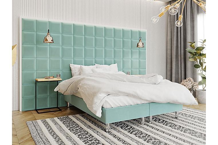 Adeliza Kontinentalseng 140x200 cm+Panel 30 cm - Grønn - Møbler - Senger - Komplett sengepakke