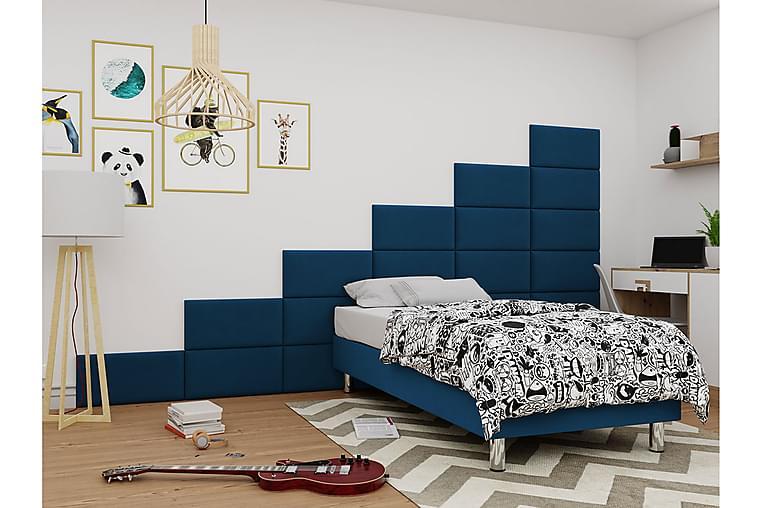 Adeliza Kontinentalseng 80x200 cm+Panel 60 cm - Blå - Møbler - Senger - Komplett sengepakke