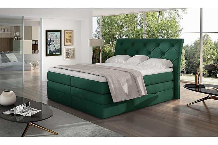 Bellamir Sengepakke 140x200 cm - Grønn - Møbler - Senger - Komplett sengepakke