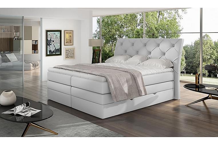 Bellamir Sengepakke 160x200 cm - Lær/Hvit - Møbler - Senger - Komplett sengepakke