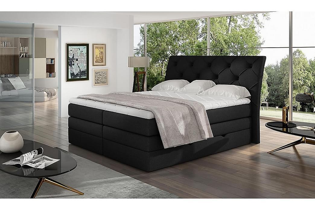Bellamir Sengepakke 180x200 cm - Svart - Møbler - Senger - Komplett sengepakke