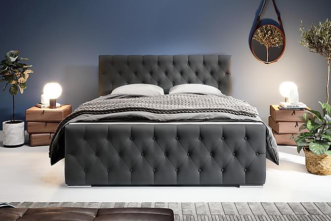 Comfort Oppbevaringsseng 160x200 - Antrasitt - Møbler - Senger - Komplett sengepakke