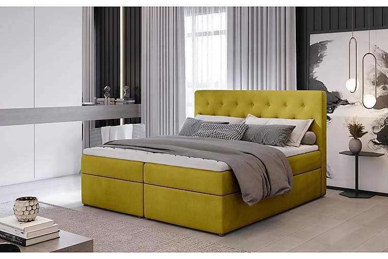 Eloree Sengepakke 140x200 cm - Gul - Møbler - Senger - Komplett sengepakke