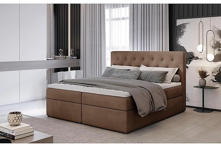 Eloree Sengepakke 160x200 cm - Lysebrun - Møbler - Senger - Komplett sengepakke