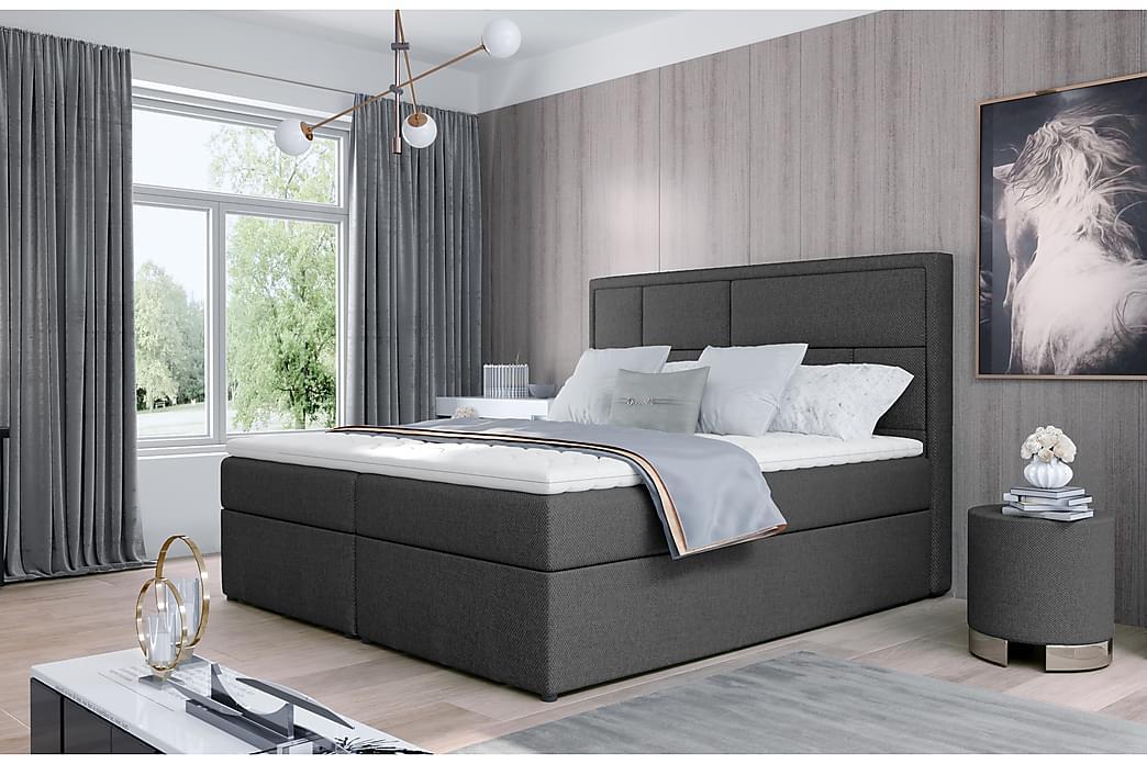Emeron Sengepakke 140x200 cm - Grå - Møbler - Senger - Komplett sengepakke