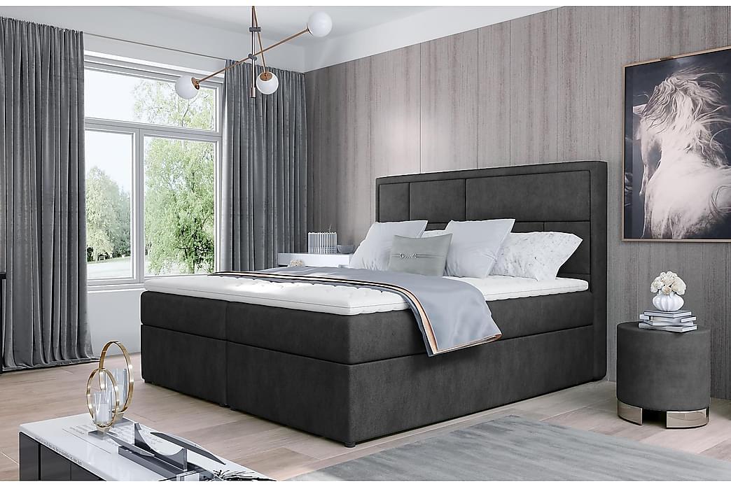 Emeron Sengepakke 160x200 cm - Grå - Møbler - Senger - Komplett sengepakke