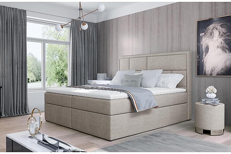 Emeron Sengepakke 180x200 cm - Beige - Møbler - Senger - Komplett sengepakke
