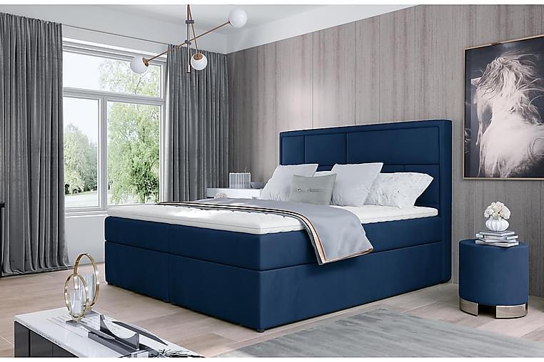 Emeron Sengepakke 180x200 cm - Blå - Møbler - Senger - Komplett sengepakke