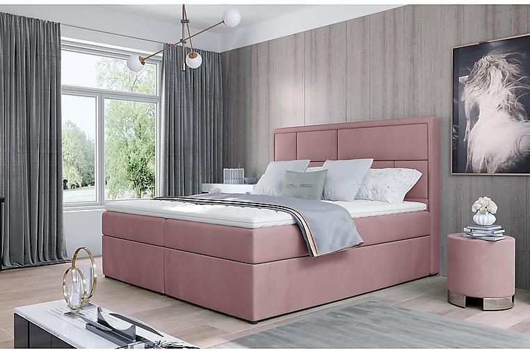 Emeron Sengepakke 180x200 cm - Lyserosa - Møbler - Senger - Komplett sengepakke