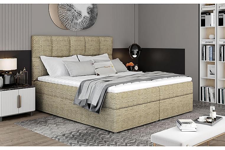 Glossa Sengepakke 160x200 cm - Beige - Møbler - Senger - Komplett sengepakke
