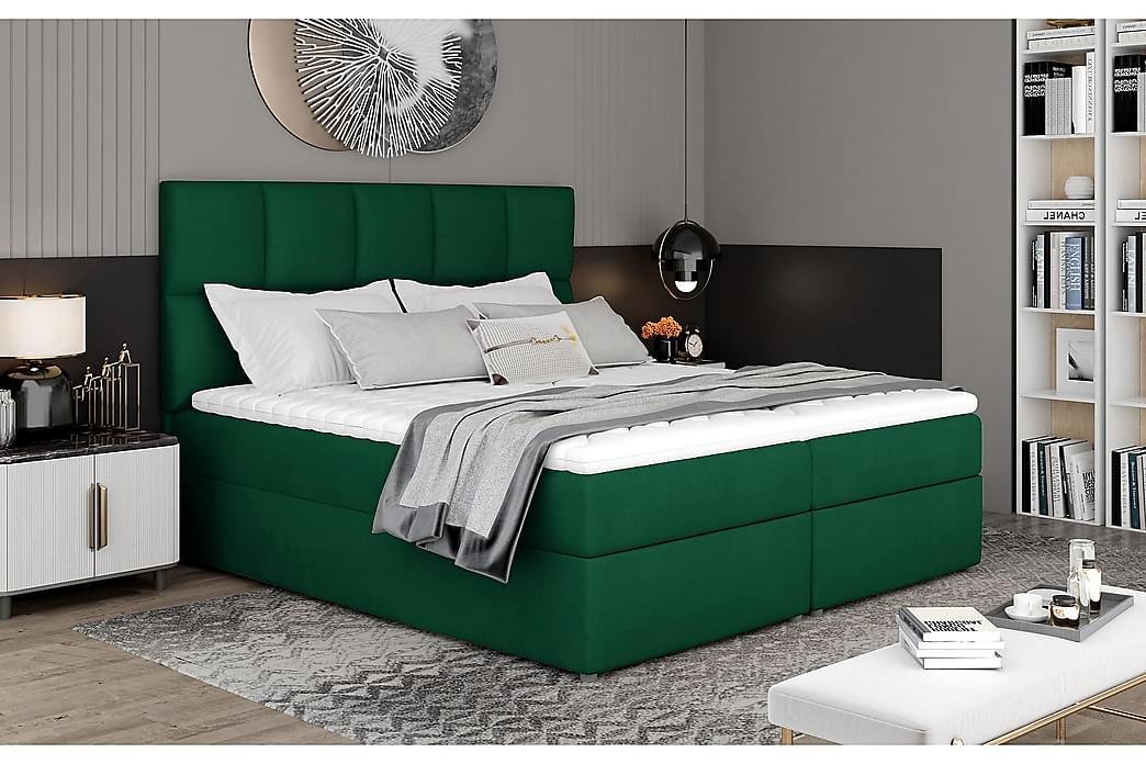 Glossa Sengepakke 160x200 cm - Grønn - Møbler - Senger - Komplett sengepakke
