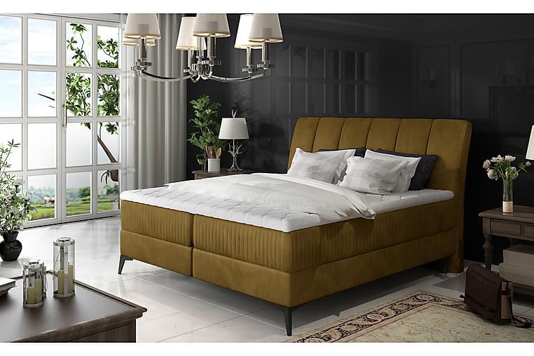 Hymana Sengepakke 140x200 cm - Gul - Møbler - Senger - Komplett sengepakke