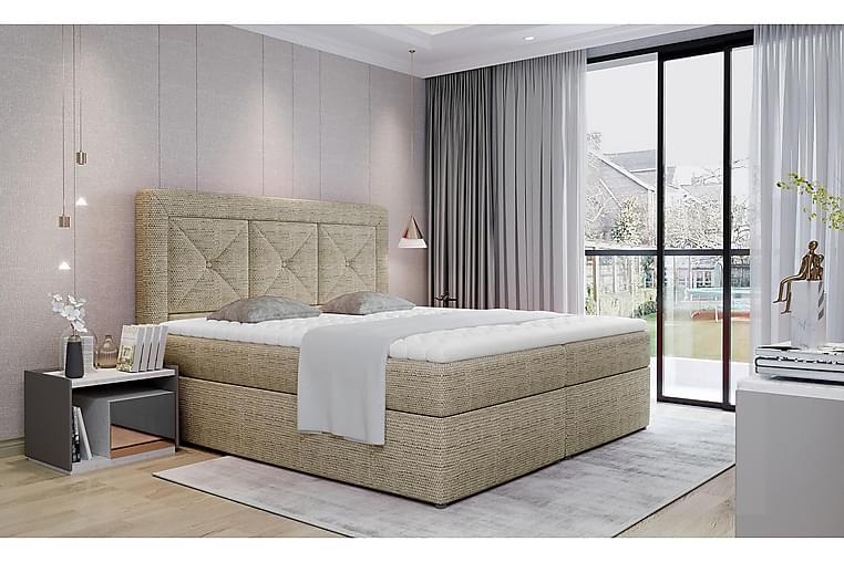 Sidria Sengepakke 160x200 cm - Beige - Møbler - Senger - Komplett sengepakke