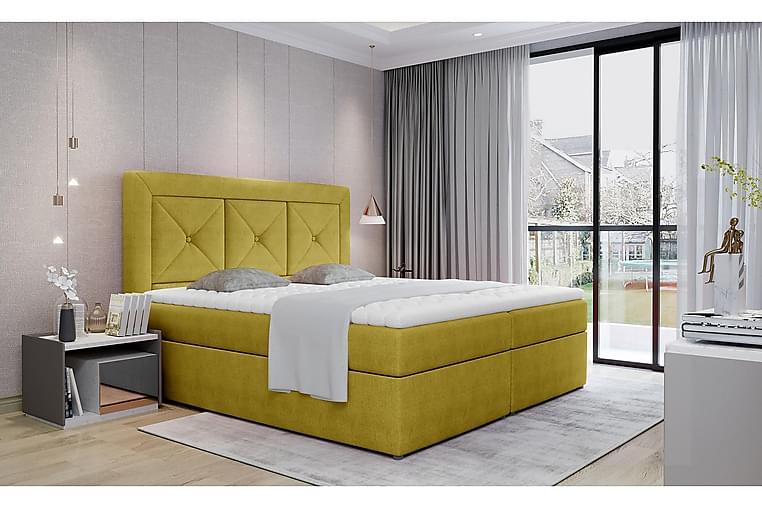 Sidria Sengepakke 160x200 cm - Gul - Møbler - Senger - Komplett sengepakke