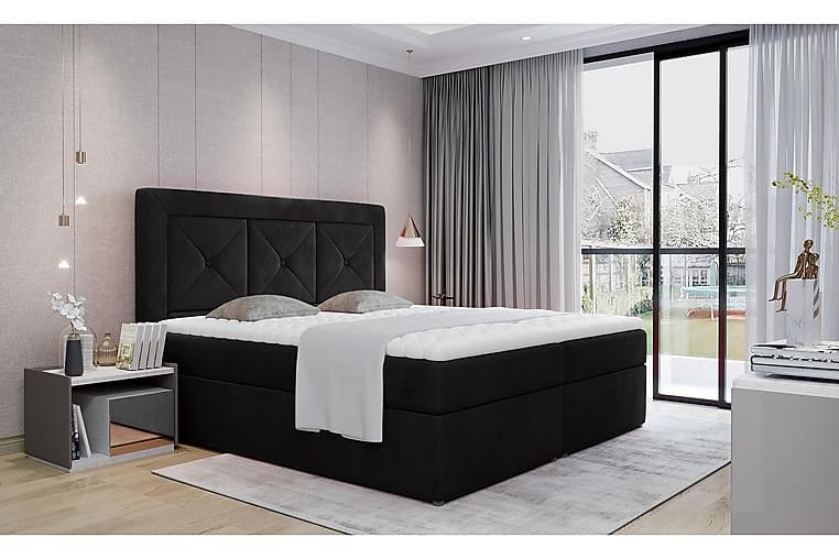 Sidria Sengepakke 160x200 cm - Svart - Møbler - Senger - Komplett sengepakke