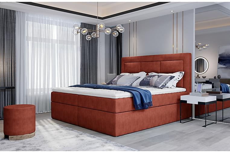 Vivera Sengepakke 140x200 cm - Rød - Møbler - Senger - Komplett sengepakke