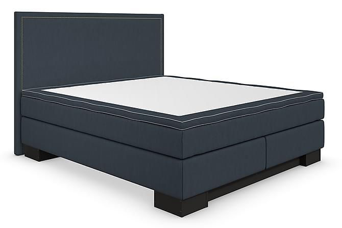 Hilton Lyx Komplett Sengepakke 180x200 Amiral Sengegavl Rett - Mørkblå - Møbler - Senger - Komplett sengepakke