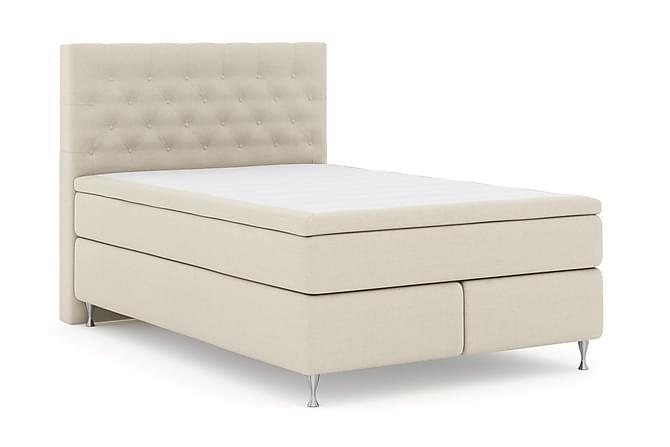 Select No 5 Komplett Sengepakke 140x200 Fast/Medium Watergel - Beige/Sølvben - Møbler - Senger - Komplett sengepakke