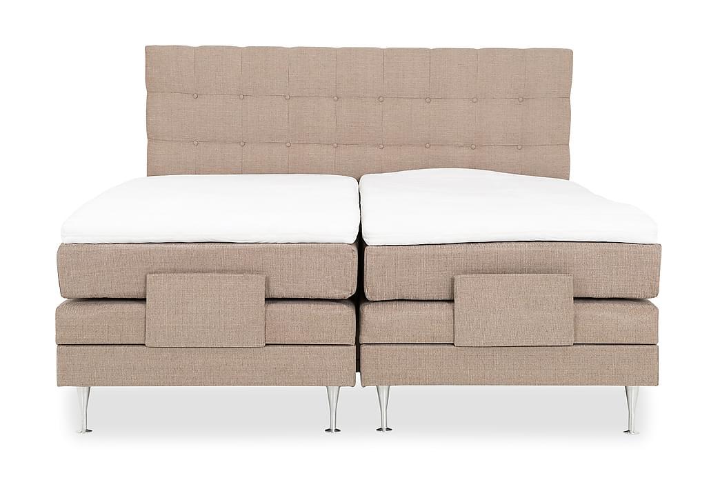 Hilda Komplett Regulerbar Seng 180x200 cm - Beige - Møbler - Senger - Regulerbare senger