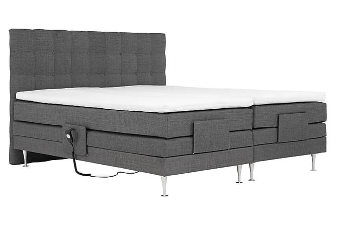 Lux Komplett Sengepakke 180x200 cm Justerbar Seng - Grå - Møbler - Senger - Komplett sengepakke