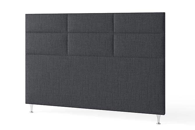 Inbed Sengegavl 180 cm Rutete - Mørkegrå - Møbler - Senger - Sengegavl