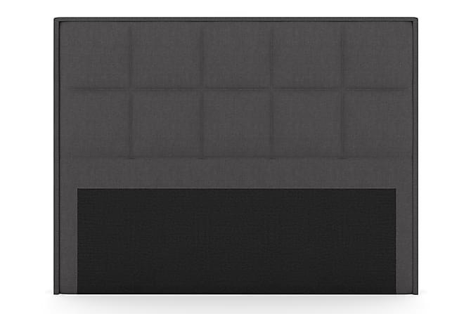 Select Rutet Sengegavl 210 cm - Mørkegrå - Møbler - Senger - Sengegavl