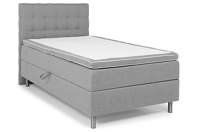 Montana Sengepakke Seng med Oppbevaring 120x200 - Lysegrå - Møbler - Senger - Komplett sengepakke