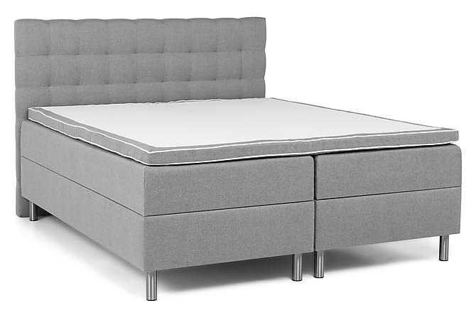 Montana Sengepakke Seng med Oppbevaring 180x200 - Lysegrå - Møbler - Senger - Komplett sengepakke