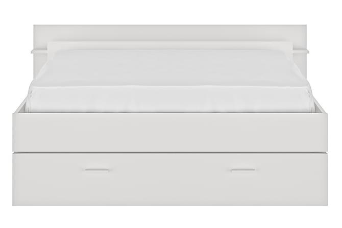 Nottere Sengeramme 140x190 - Hvit - Møbler - Senger - Senger med oppbevaring
