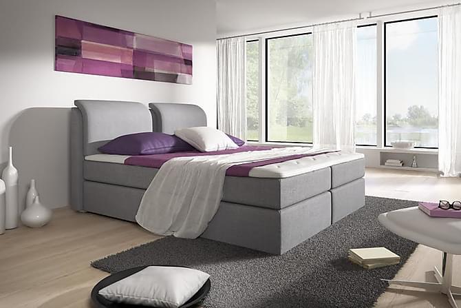 Owen Komplett Box Bed 180x200 - Grå - Møbler - Senger - Komplett sengepakke