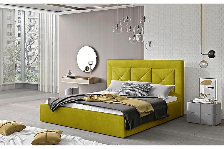 Ecloe Sengeramme 200x200 cm - Gul - Møbler - Senger - Sengeramme & sengestamme