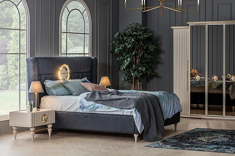 Emirgan Sengeramme 160x200 cm - Grå/Beige - Møbler - Senger - Sengeramme & sengestamme