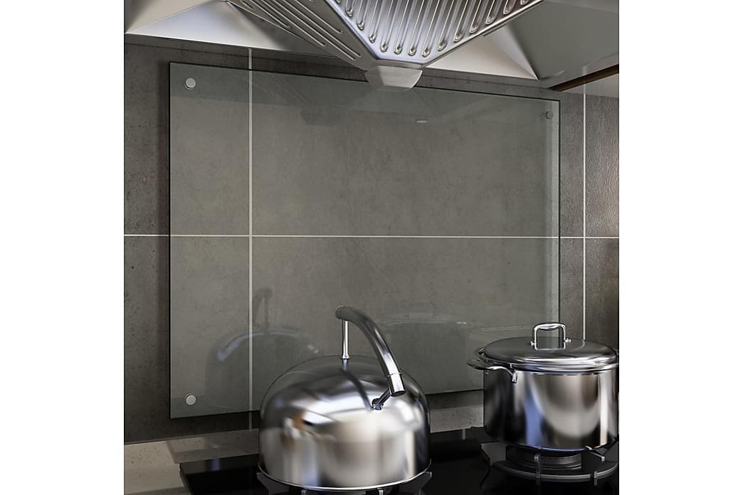 Kjøkkenplate gjennomsiktig 80x60 cm herdet glass - Gjennomsiktig - Møbler - Senger - Sengeramme & sengestamme